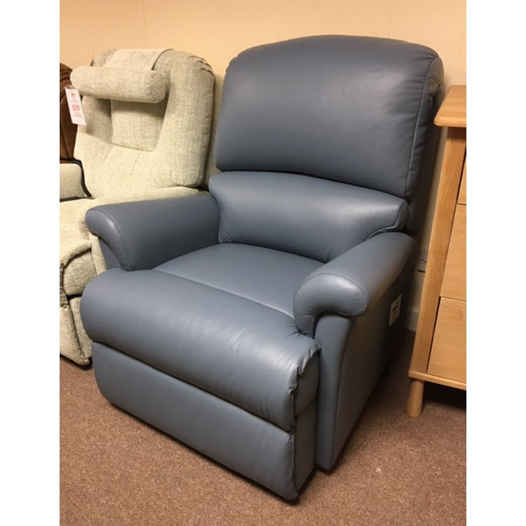 Superb Showroom Clearance Item Sherborne Nevada Royale Powered Recliner In Wedgewood Blue Leather Ocoug Best Dining Table And Chair Ideas Images Ocougorg