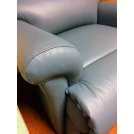 SHOWROOM CLEARANCE ITEM - Sherborne Nevada Royale Powered Recliner in Wedgewood Blue Leather
