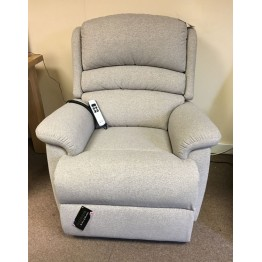 SHOWROOM CLEARANCE ITEM - RISER RECLINER - Sherborne Olivia Small Dual Motor Lift and Tilt Recliner in Fabric