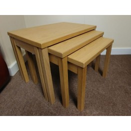 SHOWROOM CLEARANCE ITEM - Skovby Nest of Tables - Oak Lacquered Finish - SM224