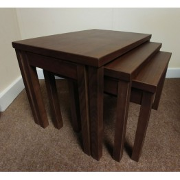 SHOWROOM CLEARANCE ITEM - Skovby Nest of Tables - Walnut Lacquered Finish - SM224