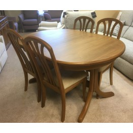 SHOWROOM CLEARANCE ITEM - Sutcliffe Trafalgar Goodwood Dining Table and Four Chairs