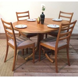 ** Special Promotion Dining Set from Sutcliffes - 239 Sutcliffe Trafalgar Dining Table with four 9034 ladderback dining chairs