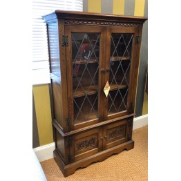SHOWROOM CLEARANCE ITEM - Old Charm Furniture Glazed Bookcase number 2083