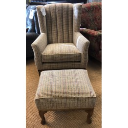SHOWROOM CLEARANCE ITEM - Old Charm Furniture Blakeney Armchair with Footstool