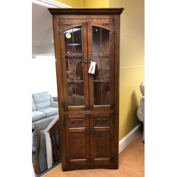 SHOWROOM CLEARANCE ITEM - Old Charm Wood Bros Corner Cabinet - Model 2796