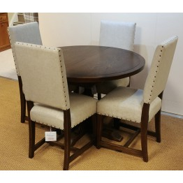SHOWROOM CLEARANCE ITEM - Old Charm Wood Bros Extending Lichfield Dining Table & 4 Chairs - Model Numbers 3213 & 3214