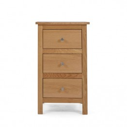Corndell Nimbus 1201 3 drawer bedside chest of drawers - Model 2628