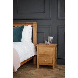 Corndell Nimbus 1200 2 drawer bedside chest of drawers - Model 2525