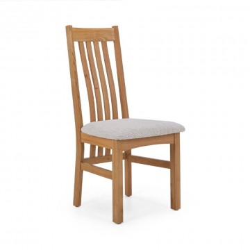 Corndell Nimbus C4 Slatted Dining Chair - Natural Fabric  - Code 2788