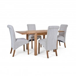Corndell Nimbus Dining Suite (1281 table & 4 Natural C22 Bibury Chairs)