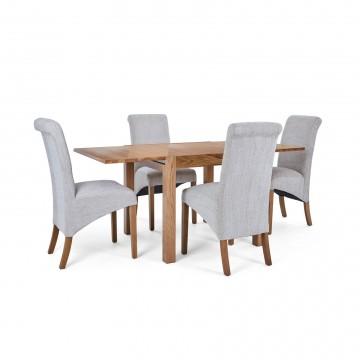 Corndell Nimbus Dining Suite (1281 table & 4 Natural C22 Bibury Chairs)