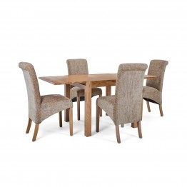 Corndell Nimbus Dining Suite (1281 table & 4 Wheat C22 Bibury Chairs)