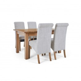 Corndell Nimbus Dining Suite (1282 table & 4 Natural C22 Bibury Chairs)