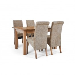 Corndell Nimbus Dining Suite (1282 table & 4 Wheat C22 Bibury Chairs)
