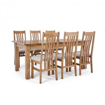Corndell Nimbus Dining Suite (1282 table & 6 Natural C4 Chairs)