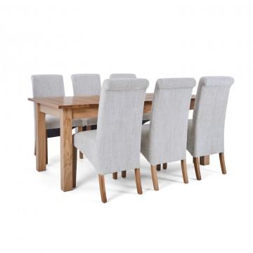 Corndell Nimbus Dining Suite (1282 table & 6 Natural C22 Bibury Chairs)
