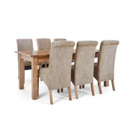 Corndell Nimbus Dining Suite (1282 table & 6 Wheat C22 Bibury Chairs)