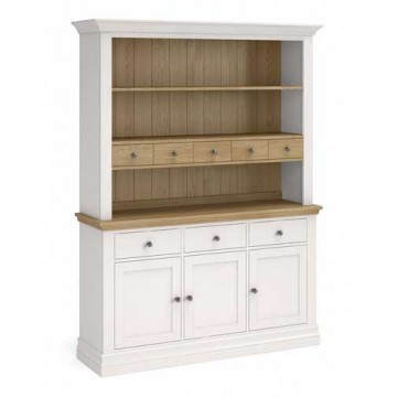 Corndell Annecy large open hutch top sitting on the large sideboard base