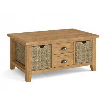 Corndell Burford 5880 Large Coffee Table with Baskets