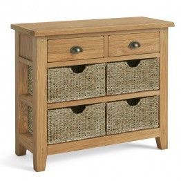 Corndell Burford 5878 Console Table with Baskets