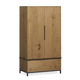 Corndell Oak Mill Bedroom 2 Door Wardrobe