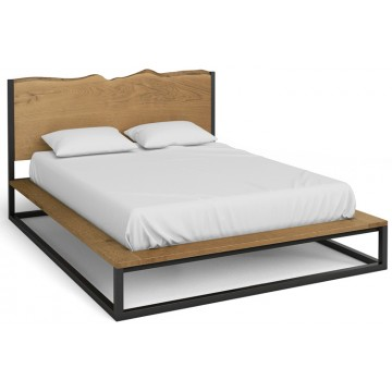 "Corndell Oak Mill Bedroom 4'6"" Double Platform Bed"