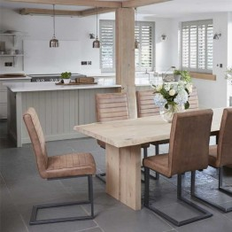 Corndell Oak Mill Dining Chair - Tan or Grey