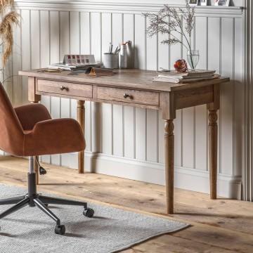Hudson Living Cookham 2 Drawer Desk in Oak