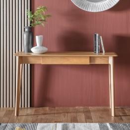 Hudson Living Madrid 1 Drawer Desk - Light Shade