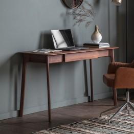 Hudson Living Madrid 1 Drawer Desk - Walnut Shade