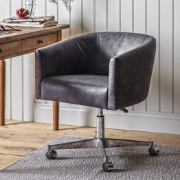 Feynman Swivel Office Chair - Antique Ebony