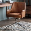 Curie Swivel Chair - Vintage Brown