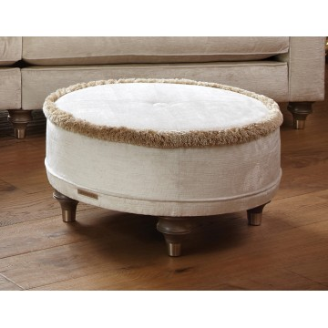 Duresta Harvard Circular Footstool - FREE FOOTSTOOL IF ORDERING 5 SEATS OR MORE - CALL 01283 740004 FOR DETAILS.
