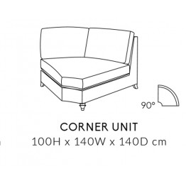 Duresta Harvard Corner Unit - MODULAR ITEMS - 90 Degree  - Ordering a suite? Get a FREE FOOTSTOOL - Ends 1st March 2020
