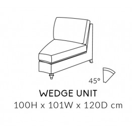 Duresta Harvard Wedge Unit - MODULAR ITEMS - 45 Degree  - Ordering a suite? Get a FREE FOOTSTOOL - Ends 1st March 2020