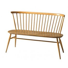 Ercol Furniture 1450 Originals loveseat with walnut seat