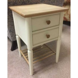 Ercol Piacenza 3392 Compact Side Table  (Compact Bedside Chest of Drawers)