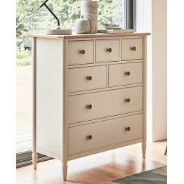 Ercol Piacenza 3394 7 Drawer Tall Wide Chest