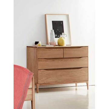 Ercol Rimini 3283 4 drawer low wide chest