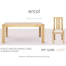Ercol Bosco Dining Set - ** BLACK FRIDAY DEAL 2020 ** - Ends 30th November 2020.
