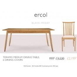 Ercol Teramo Dining Set - ** BLACK FRIDAY DEAL 2020 ** - Ends 30th November 2020.