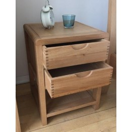 Ercol Bosco 1368 2 Drawer Bedside Cabinet
