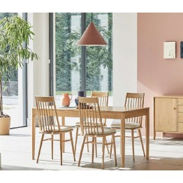 Ercol 4221/4222 Askett Dining Suite - Medium Extending Dining Table & 4 High Back Dining Chairs - Special Sale Price.