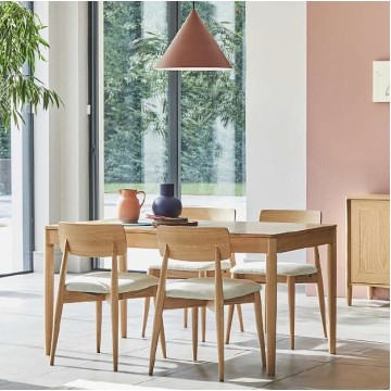 Ercol 4221/4223 Askett Dining Suite - Medium Extending Dining Table & 4 Low Back Dining Chairs - Special Set Price Ends 1st November