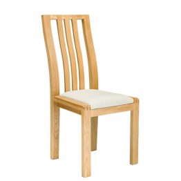 Ercol Bosco 1383 Dining Chair with Cream Fabric Seat - VIEW PRODUCT FOR DETAILS OF OUR FREE DINING CHAIR OFFER.
