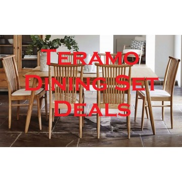 Ercol Teramo Dining Set Deal - Configure your perfect Teramo dining suite at reduced prices! - Table & 6 Chairs!