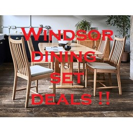 Ercol Windsor Dining Set Promotion 1193 Table & 6 Penn Chairs - Ends 1st March 2021!!