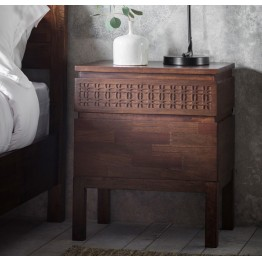 Boho Retreat Bedside 2 Drawer Chest