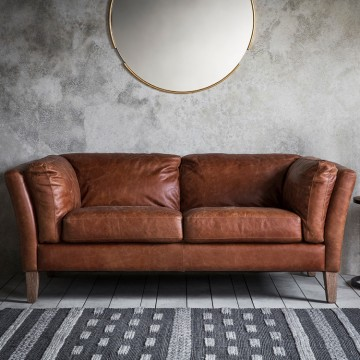 Frank Hudson Ebury Sofa in Mellow Brown Vintage Leather